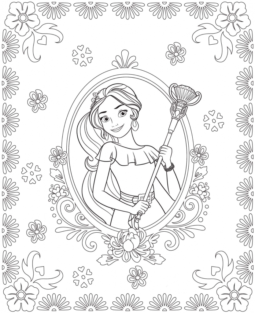 Adorable Elena Of Avalor Coloring Pages