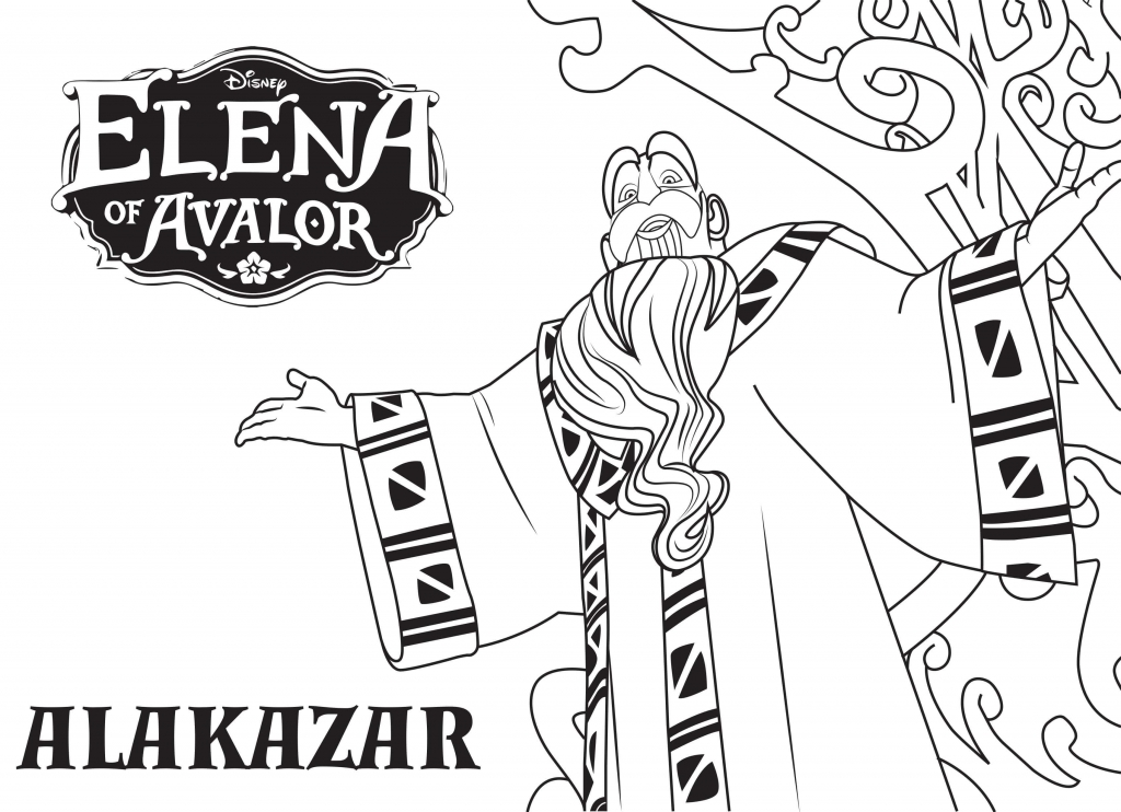 Alakazar Elena Of Avalor Coloring Pages