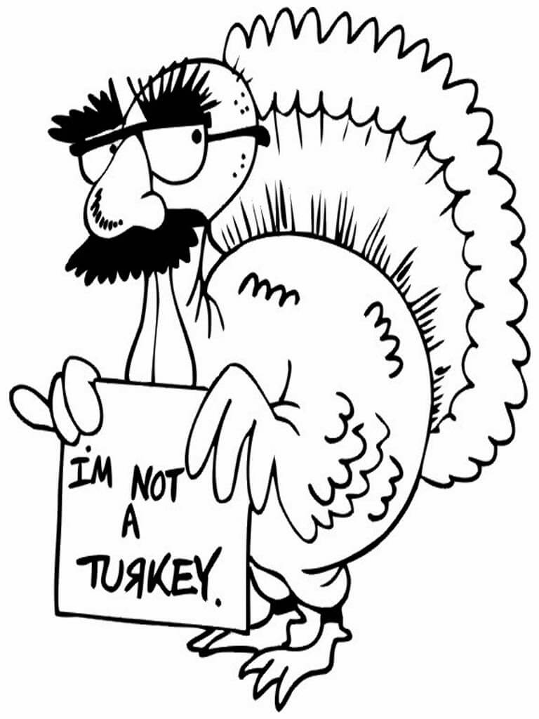 39 I Am Not Turkey Thanksgiving coloring page