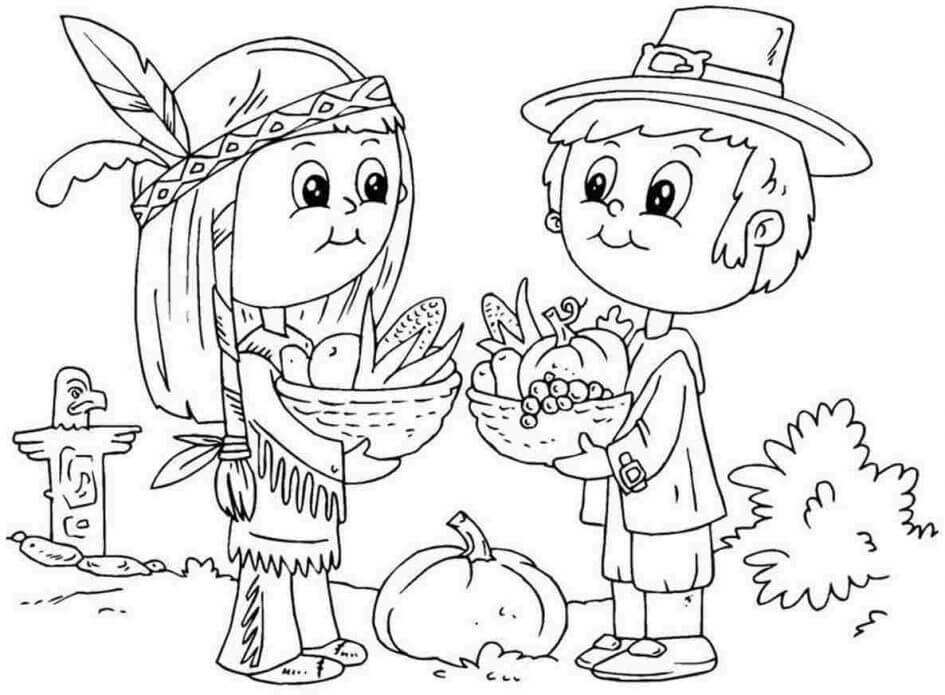 Native American Thanksgiving coloring pages