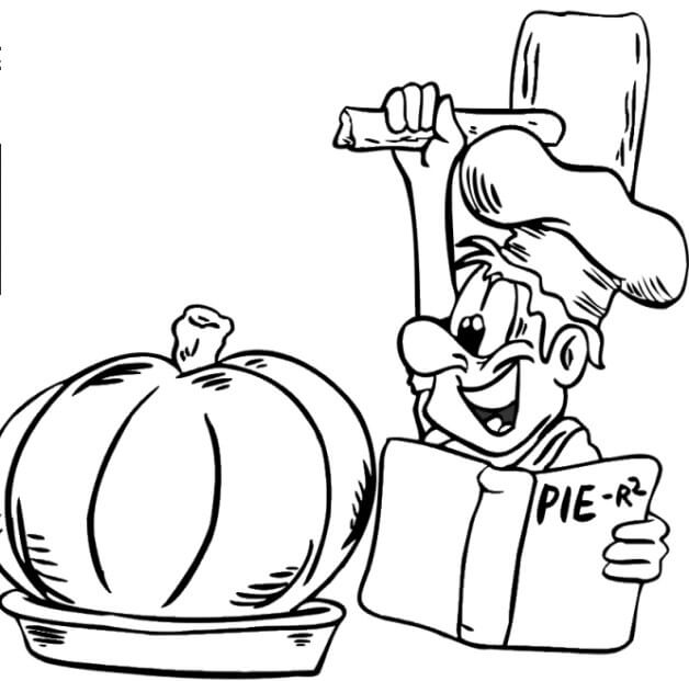 5 Pie Master Working On His Masterpiece Thanksgiving coloring page