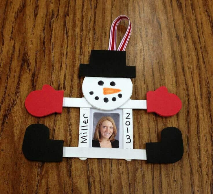 Snowman Christmas Crafts For Kids