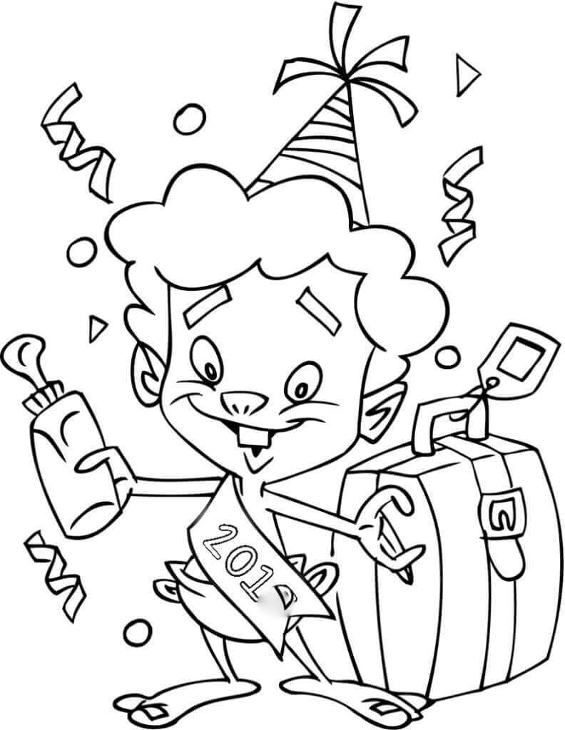 Baby New Year Coloring Pages