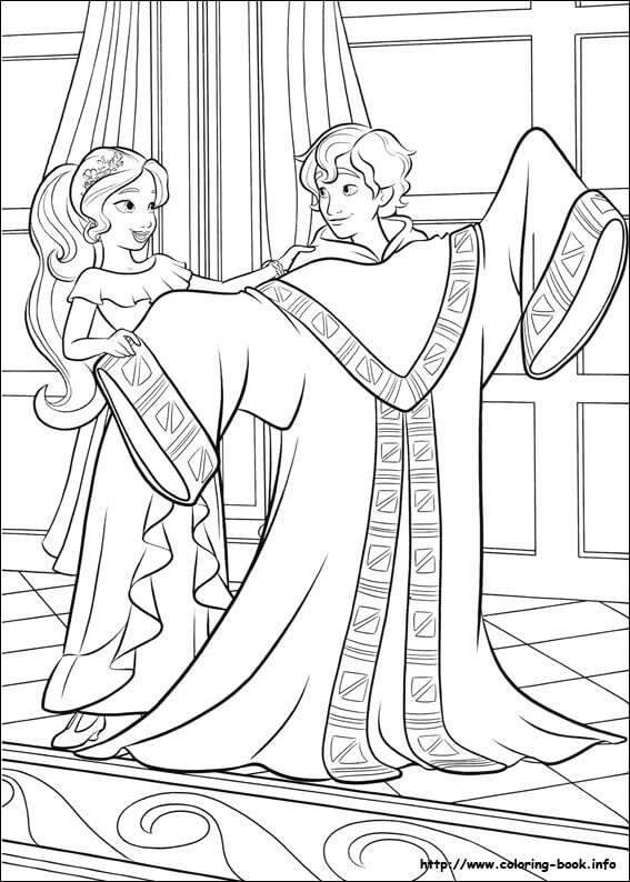 Elena Helping Mateo Elena of Avalor Coloring Page