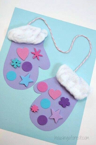 Mittens Christmas Crafts For Kids