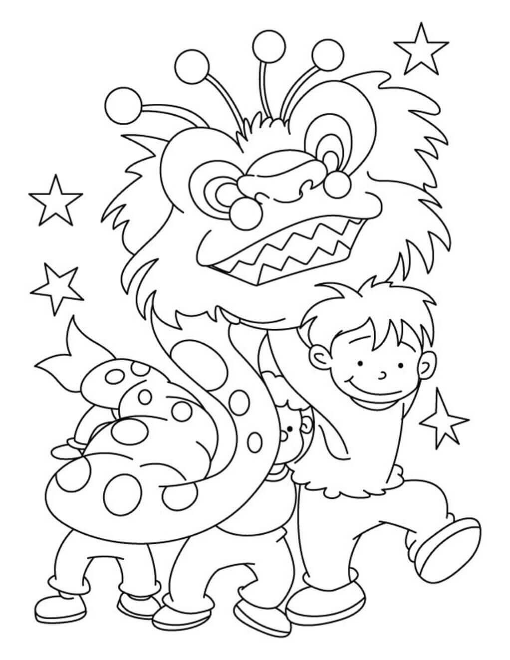 New Year In China 2018 Coloring Pages