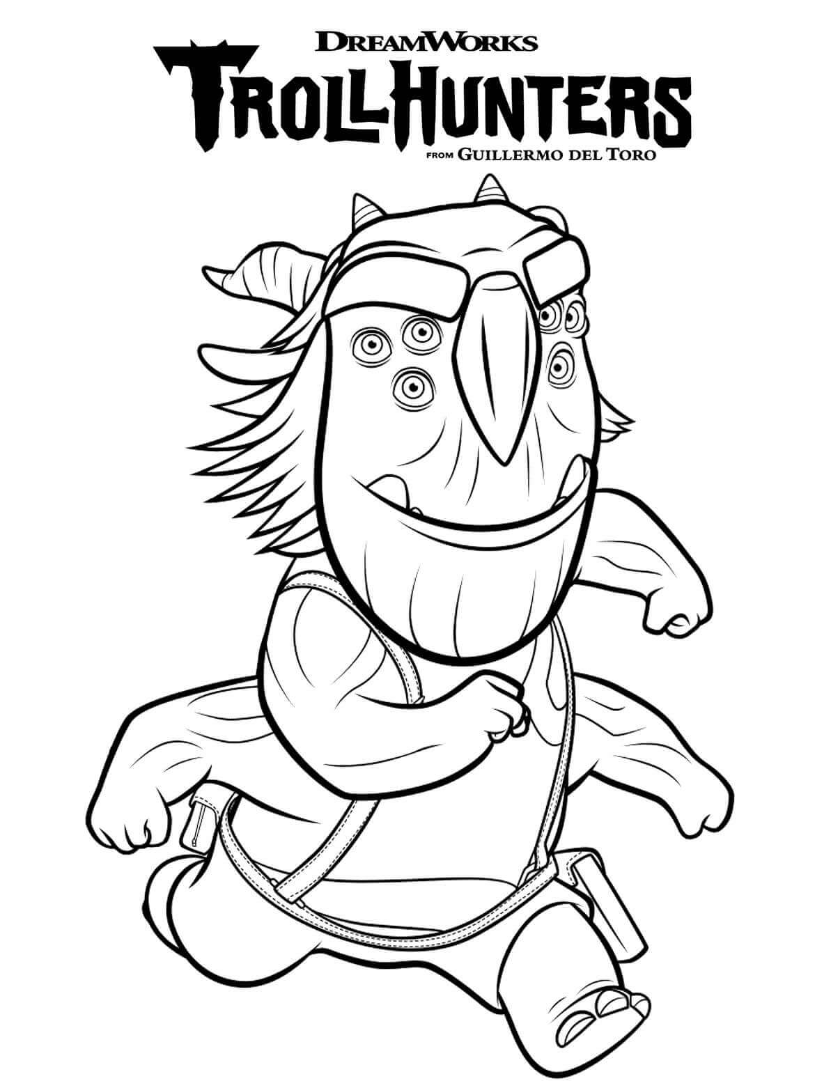 Blinkous Galadriga TrollHunters Coloring Page