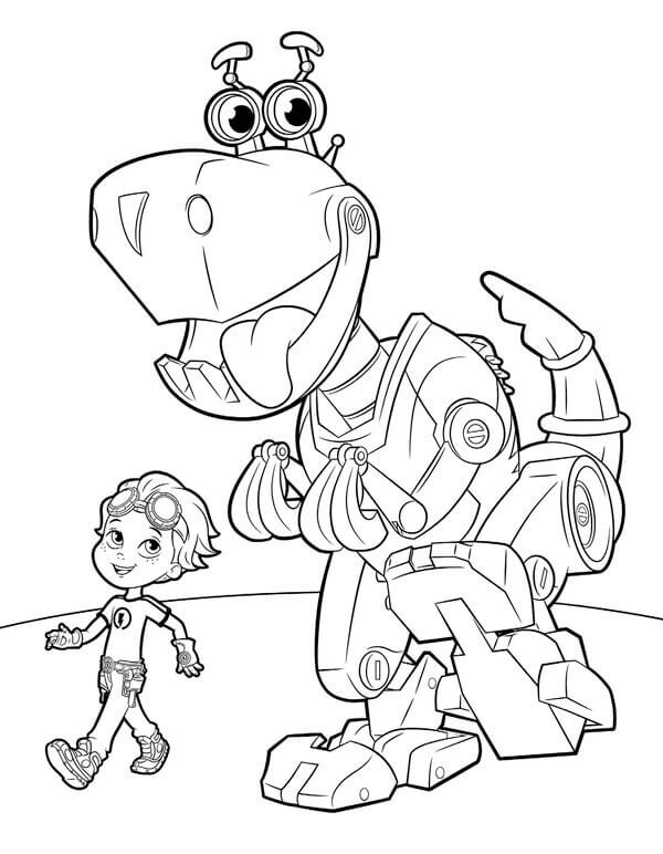 rusty rivets coloring pages - 20 printable rusty rivets coloring pages
