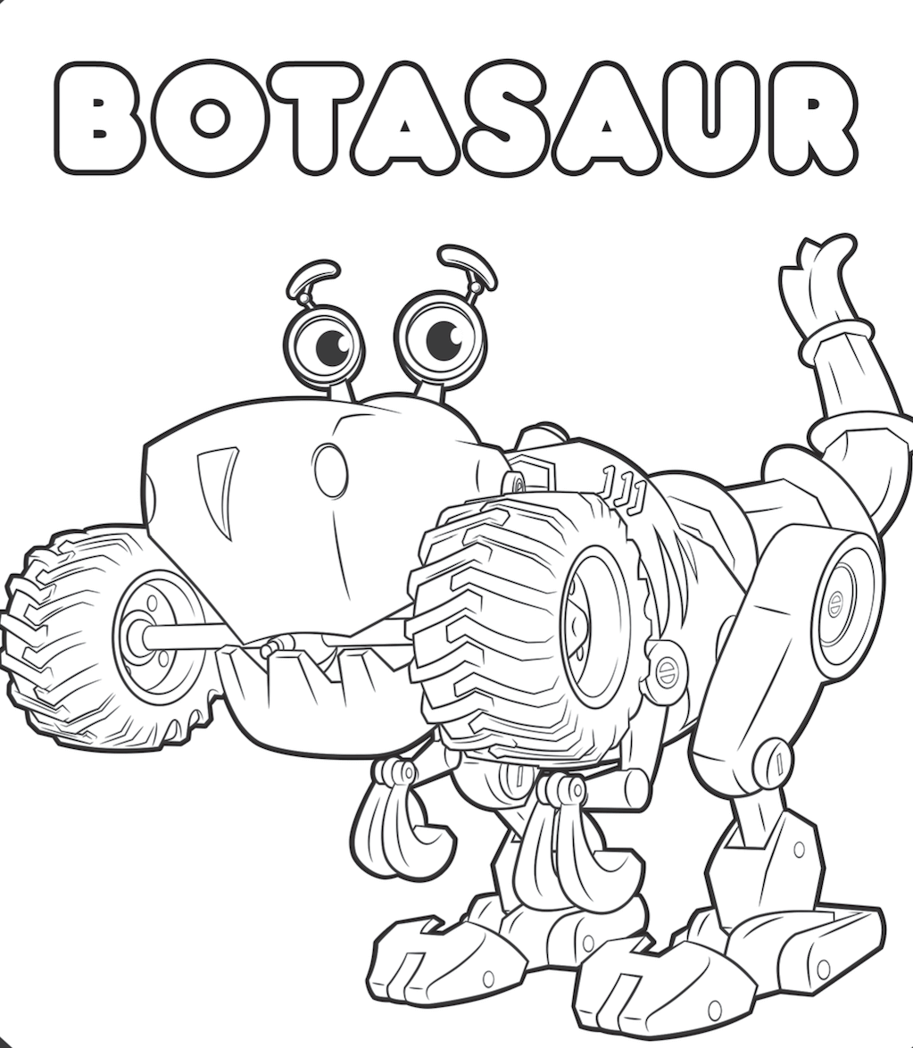 Botasaur From Rusty Rivets Coloring Page