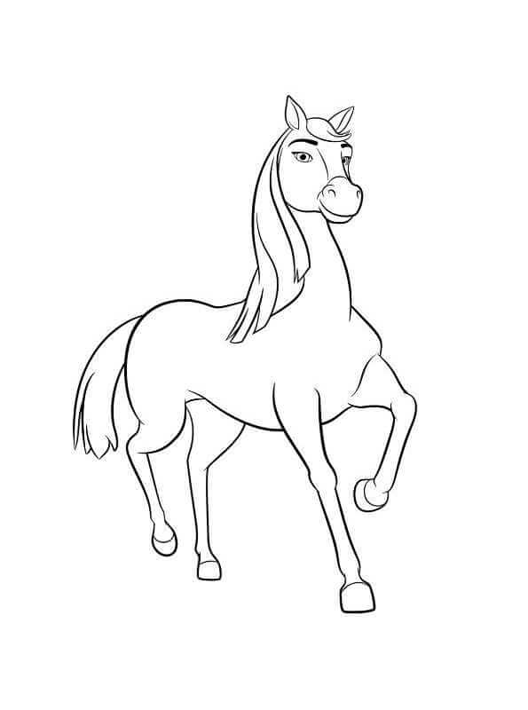 Lucky Paard Kleurplaat 15 Printable Spirit Riding Free Coloring Pages