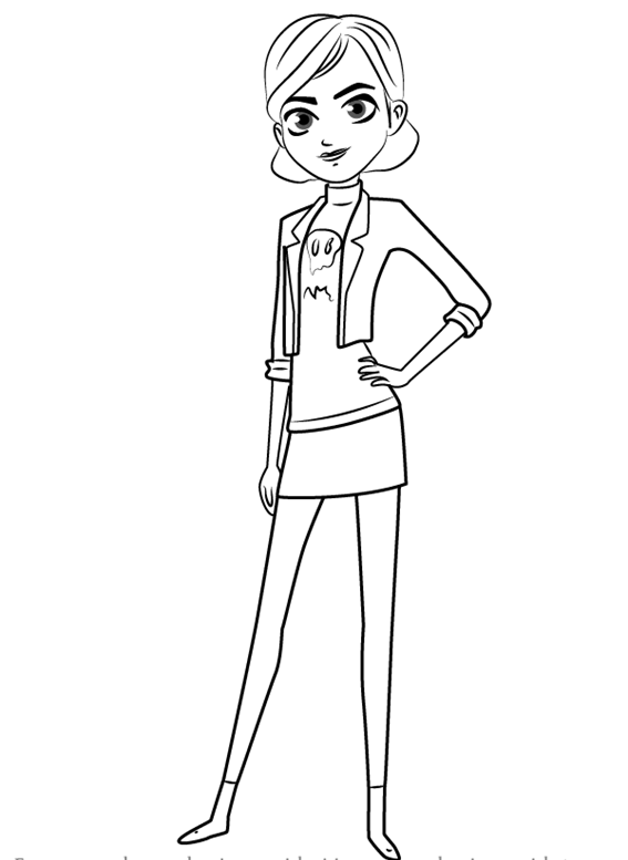 Claire Nuñez TrollHunters Coloring Page