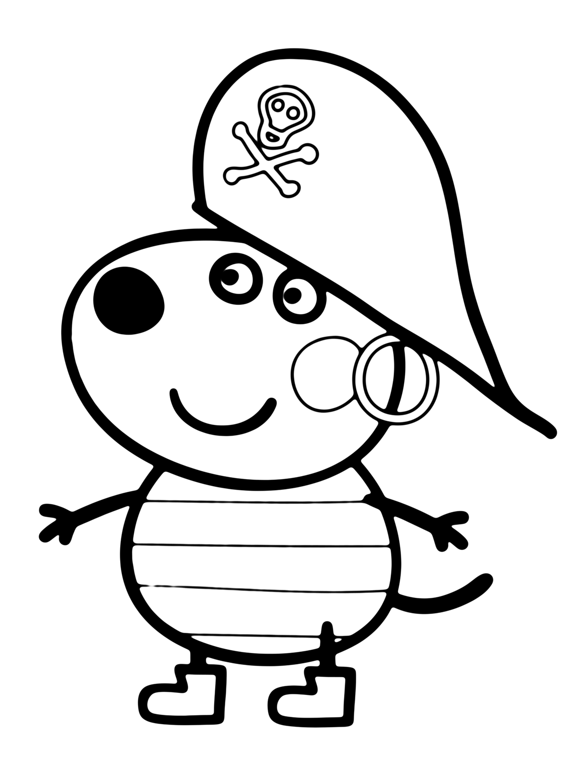 Danny Dog In Peppa Pig Coloring Page