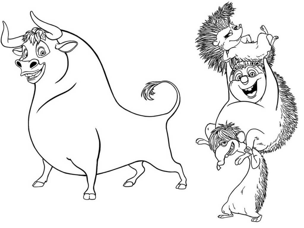 Ferdinand And Una, Dos, Cuatro Coloring Page