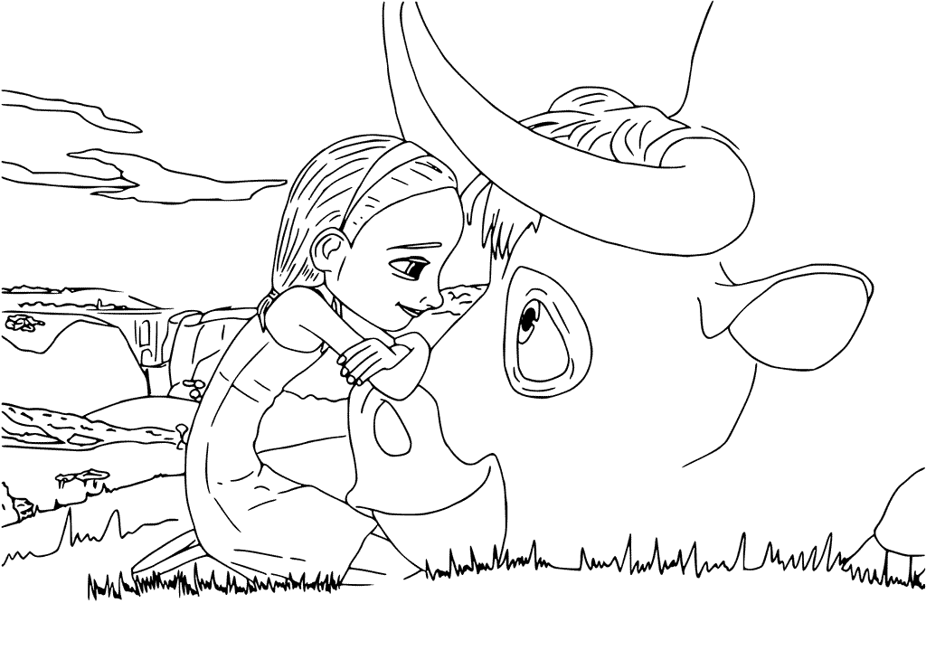 Printable Disney Coloring Pages For Kids: Printable Disney Ferdinand Coloring Pages