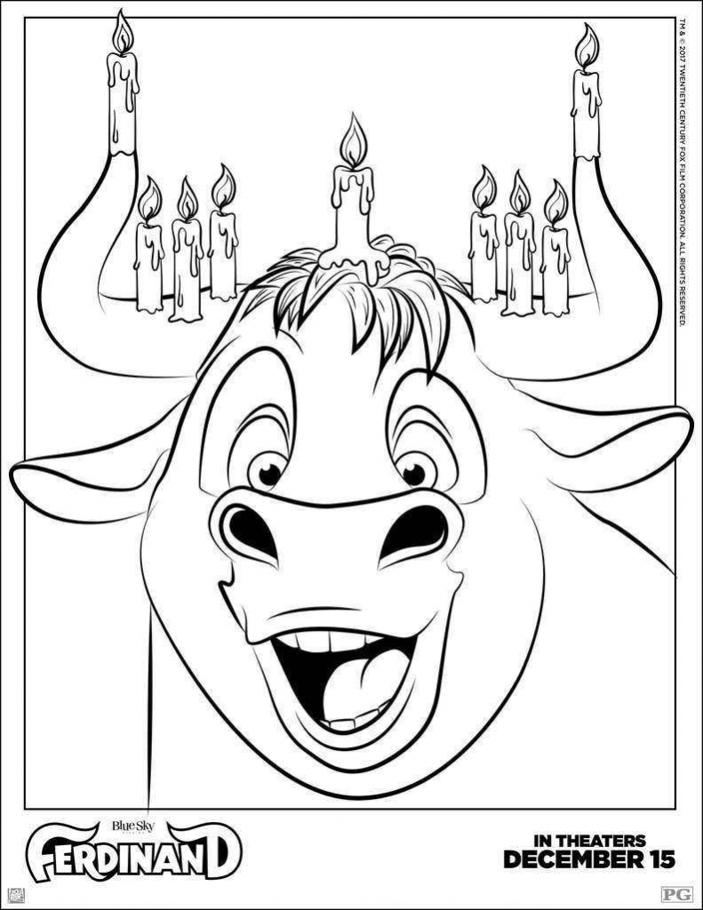 Ferdinand Hanukkah Coloring Page View And Print Full Size