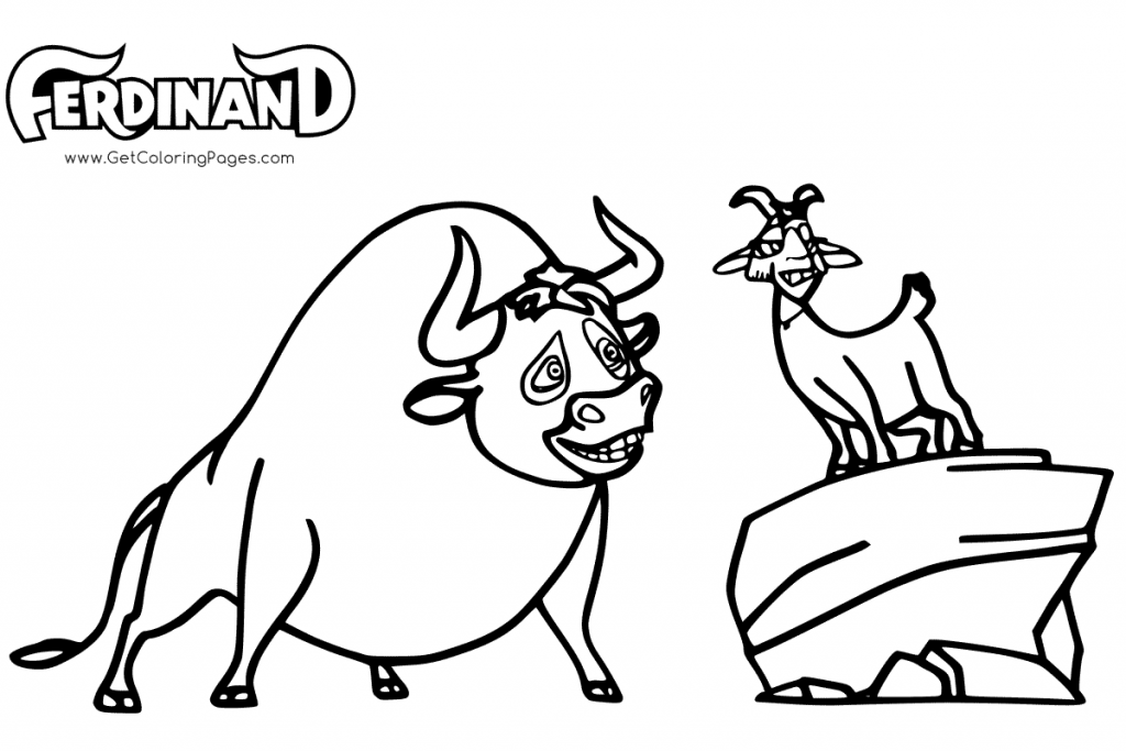 Ferdinand and Lupe Ferdinand Movie Coloring Page