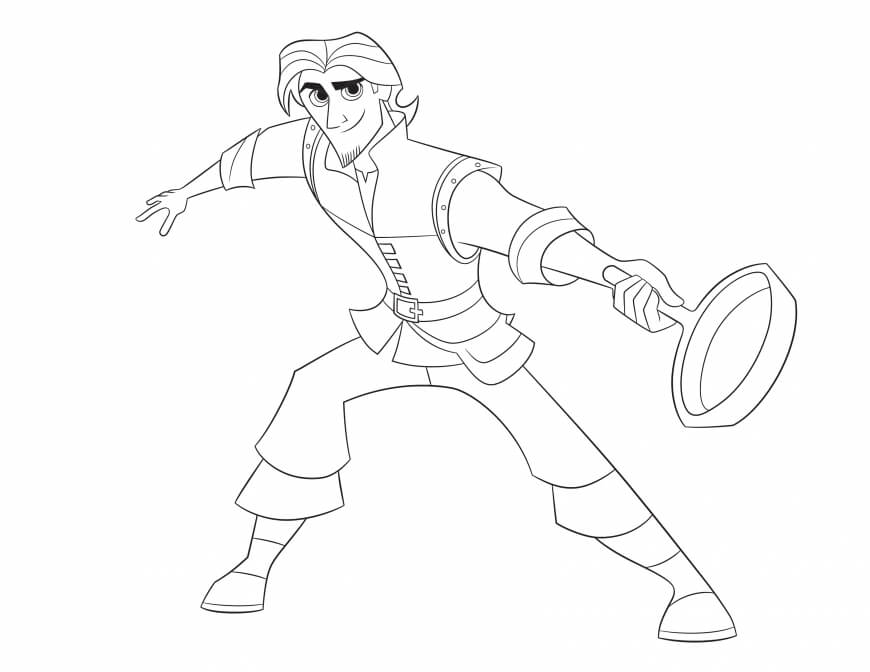 Flynn Rider or Eugene Tangled The Series Coloring Page