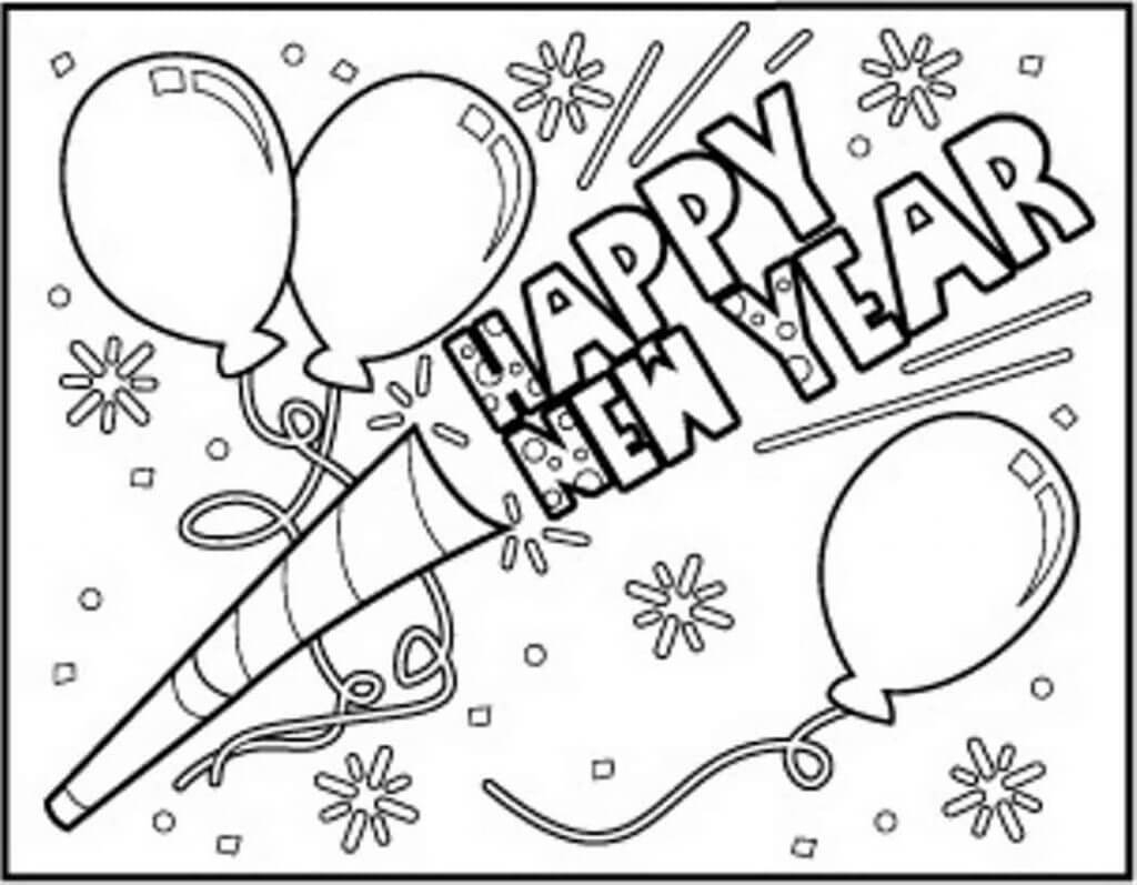 Happy New Year Coloring Pages Printable New Year 2018 Coloring Pages