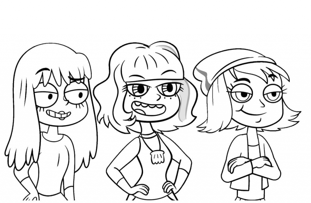 Janna, Jackie, Hope Star vs. the Forces of Evil Coloring Page