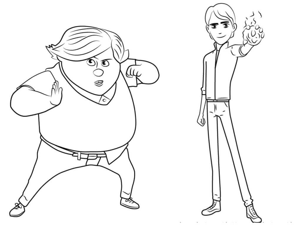 Jim And Toby TrollHunters Coloring Page