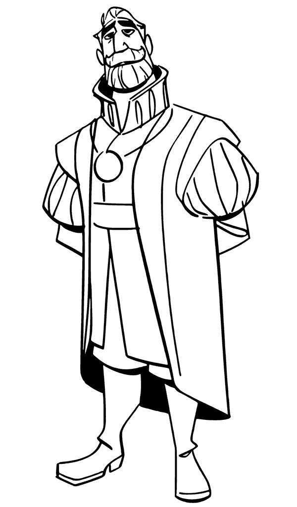 King Frederic Tangled The Series Coloring Page