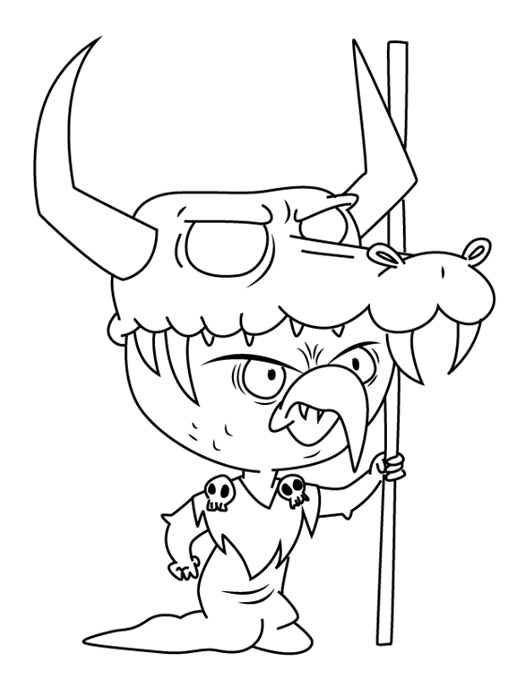 Ludo Star vs. the Forces of Evil Coloring Page