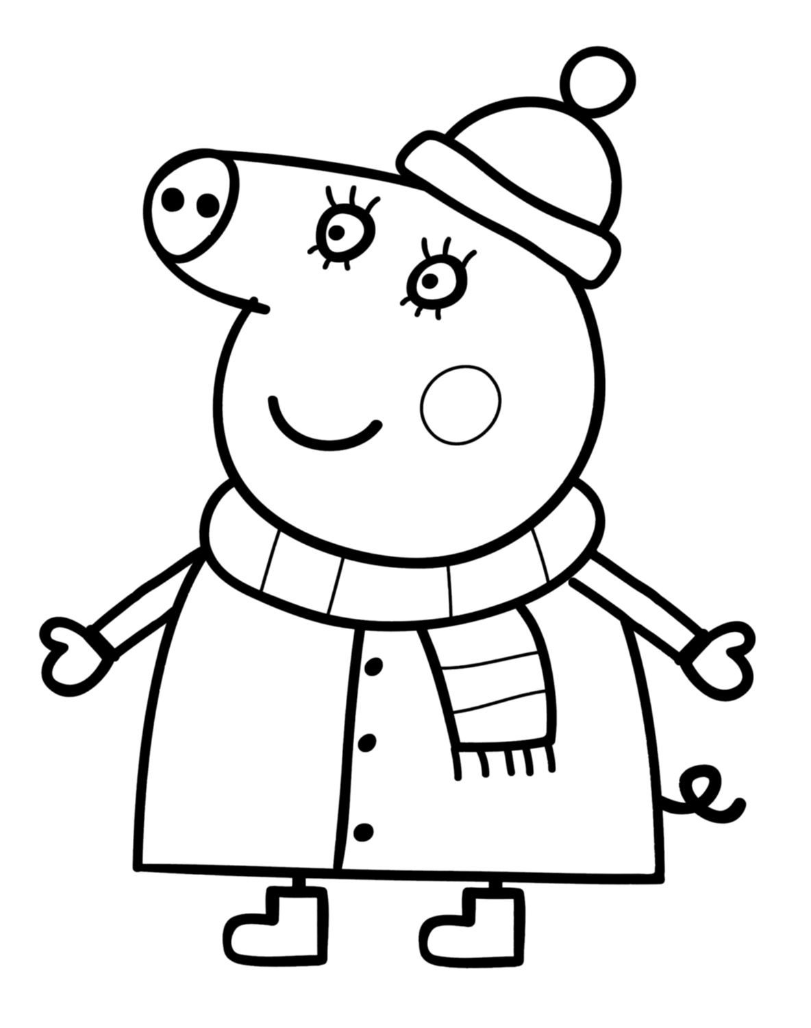 Mummy Pig In Peppa Pig Coloring Page