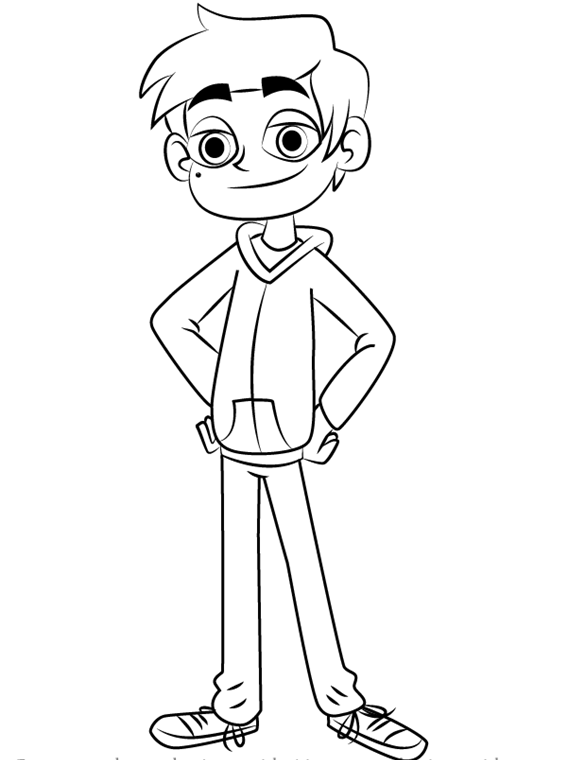Marco Diaz Star vs. the Forces of Evil Coloring Page