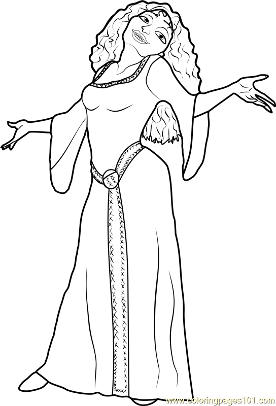 Mother Gothel Tangled The Series Coloring Page