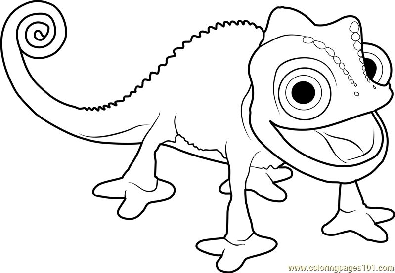 pascal the chameleon tangled the series coloring page