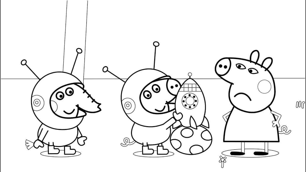 30 Printable Peppa Pig Coloring Pages You Won't Find ...