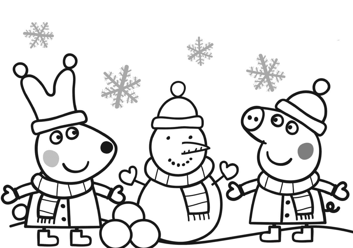 Peppa Pig Holidays Coloring Page