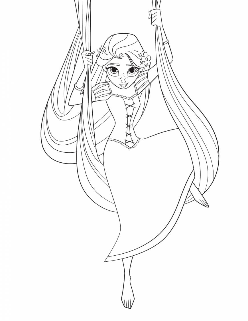 Rapunzel Tangled The Series Coloring Page