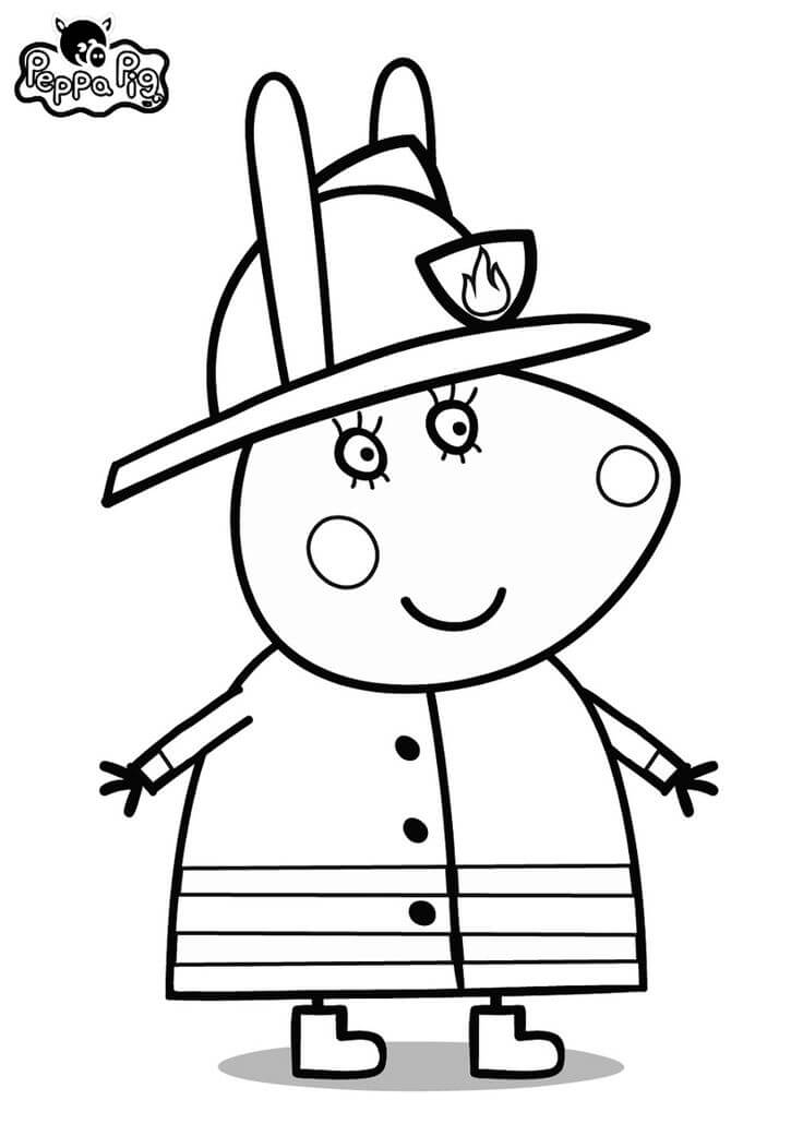 Rebecca Rabbit In Peppa Pig Coloring Page