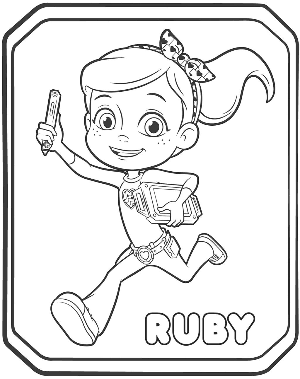 Ruby Ramirez Coloring Page