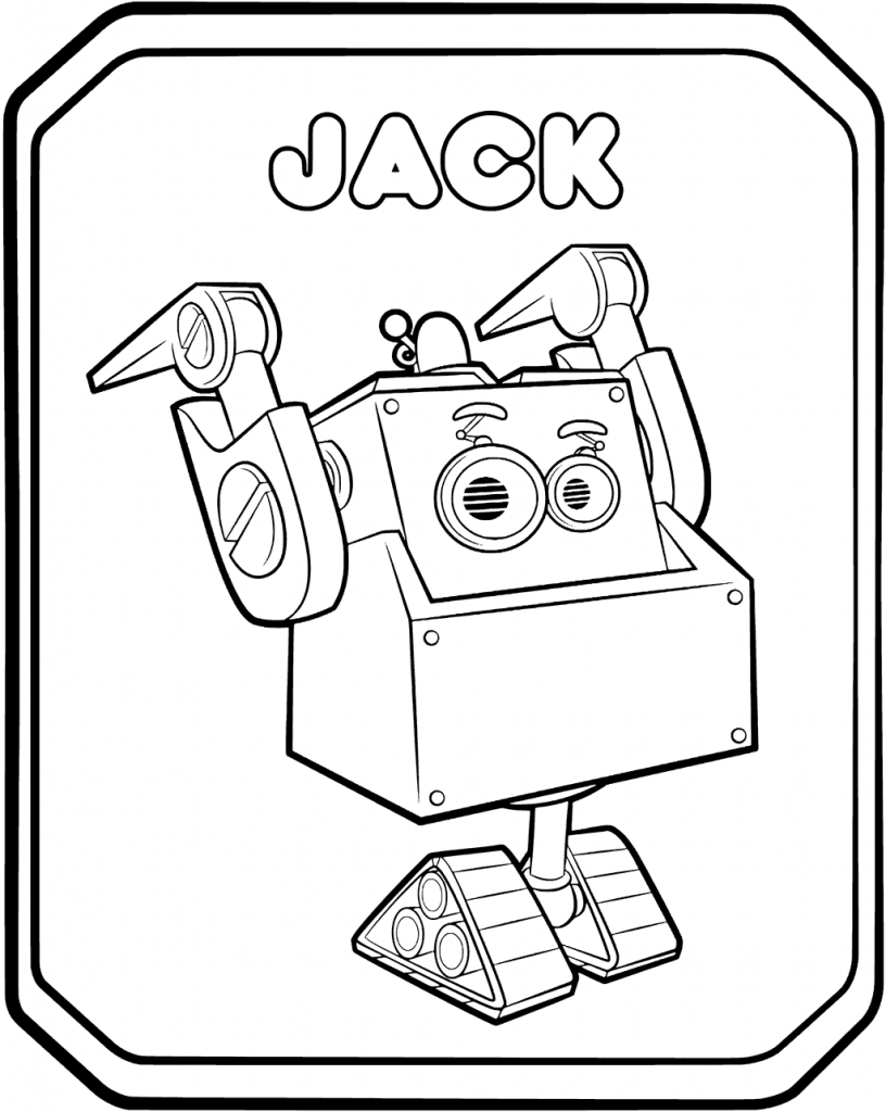 Rusty Rivets Robot Jack Coloring Page