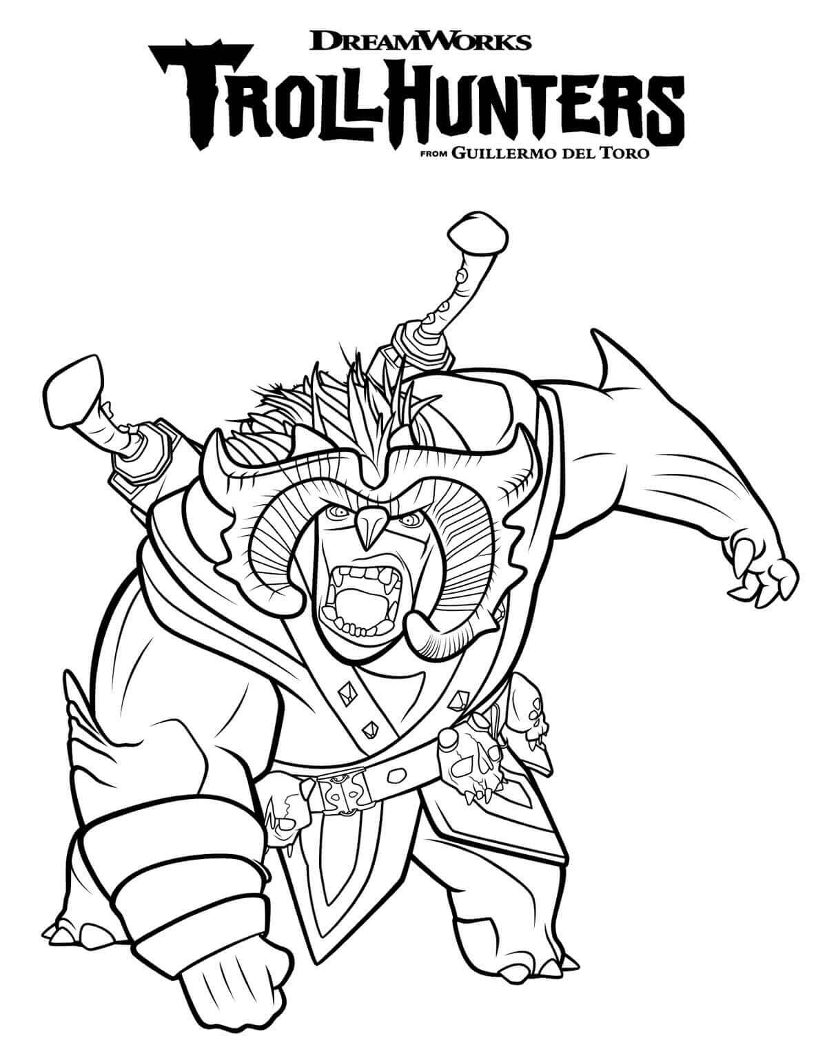 Scary Bular TrollHunters Coloring Page