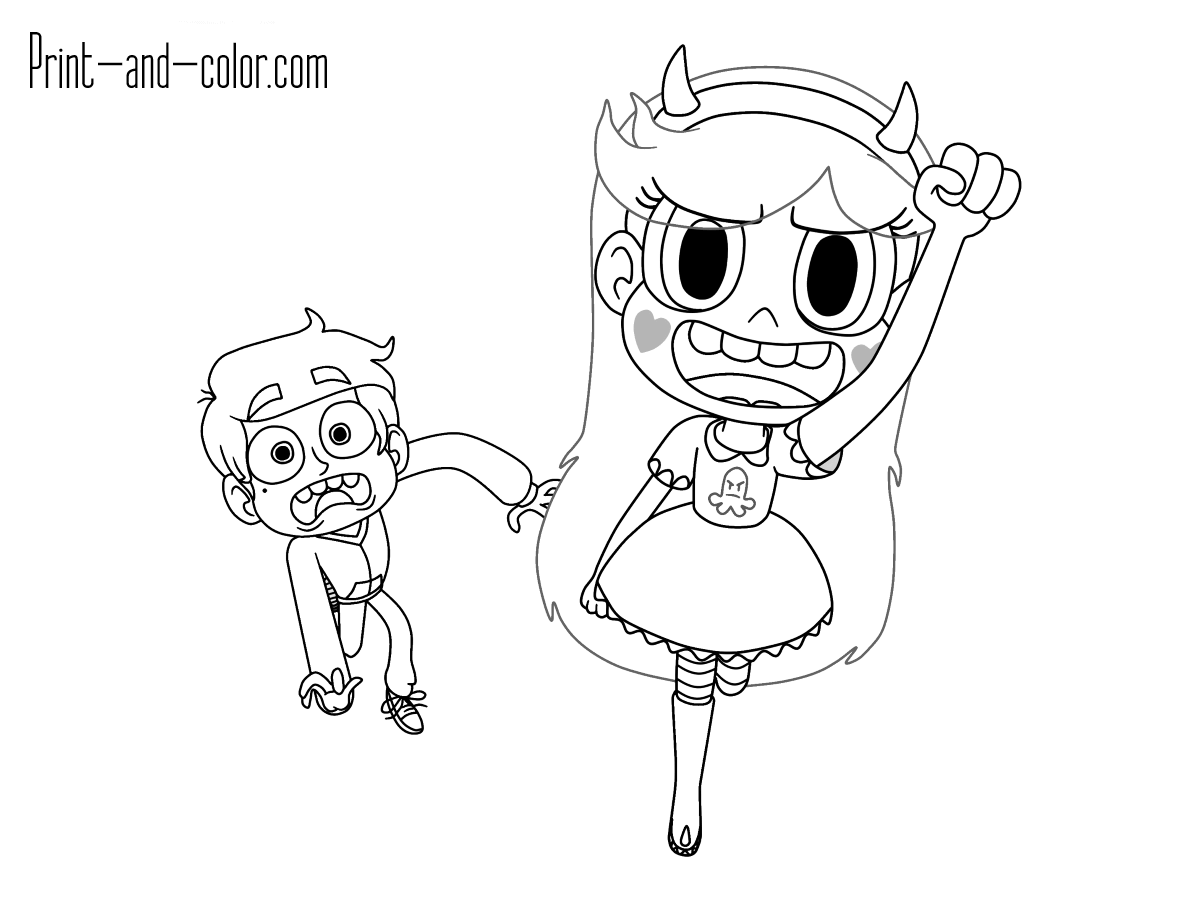 Star And Marco Coloring Page