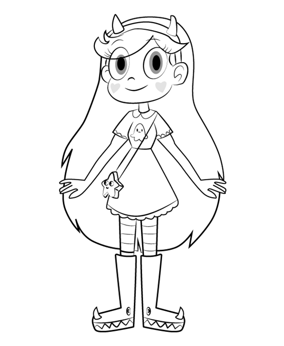 Star Butterfly Star vs. the Forces of Evil Coloring Page