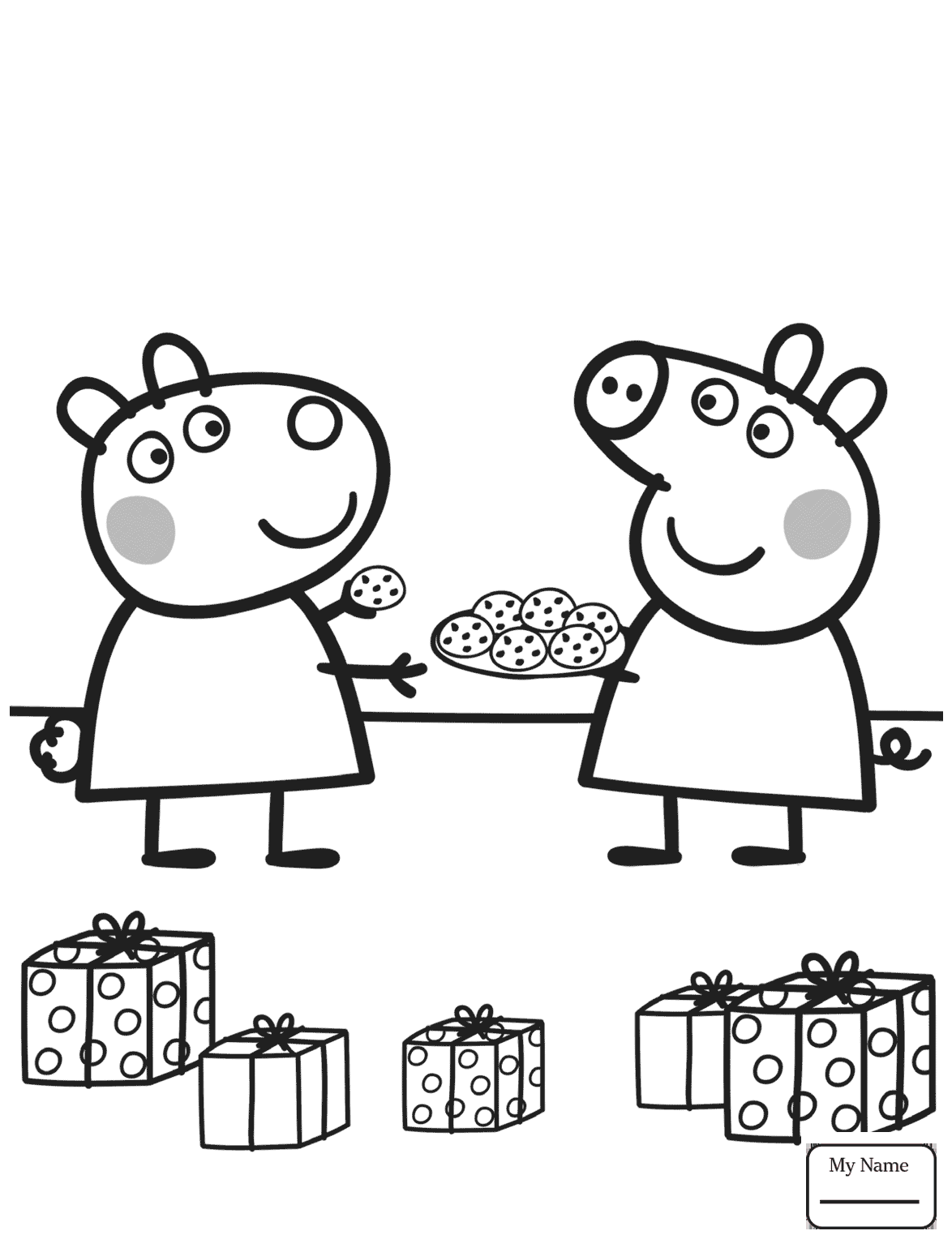 Suzy And Peppa Pig Coloring Page