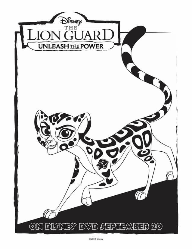 The Lion Guard Fuli Coloring Page