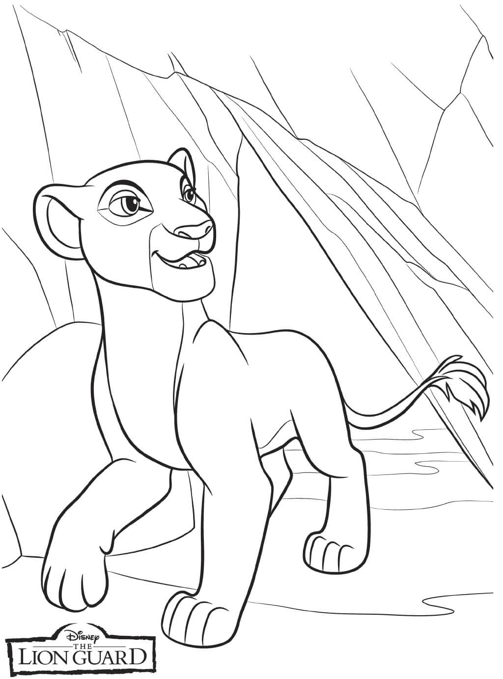 The Lion Guard Nala Coloring Page
