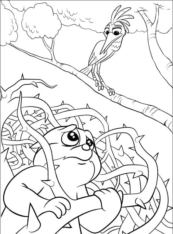 The Lion Guard Ono and Bunga Coloring Page