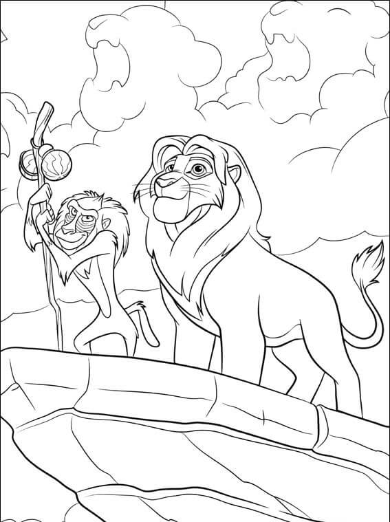 The Lion Guard Rafiki And Simba Coloring Page
