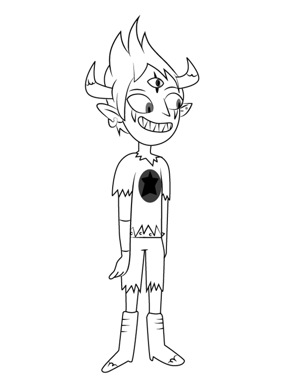 Tom Star vs. the Forces of Evil Coloring Page