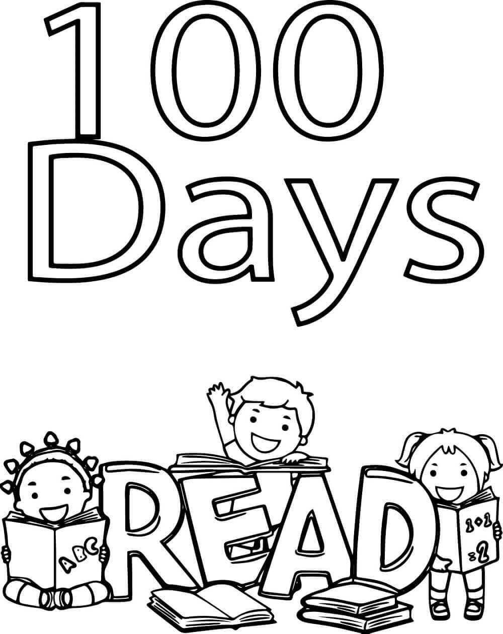 100 days of school coloring pages free printable