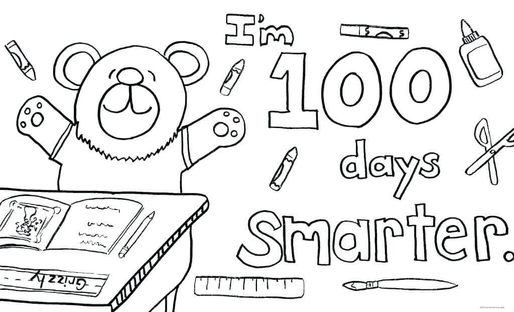 It is a photo of Luscious 100 Days Smarter Printable