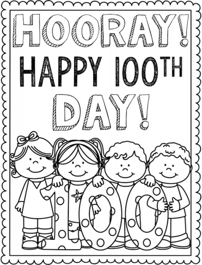 days of school activities for preschool free printable 100 days of school coloring pages 100