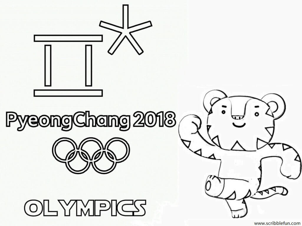 Olympics 2018 Coloring Pages, 2018 Olympics Logo Coloring Pages, Winter Olympics 2018 Coloring Pages Printable