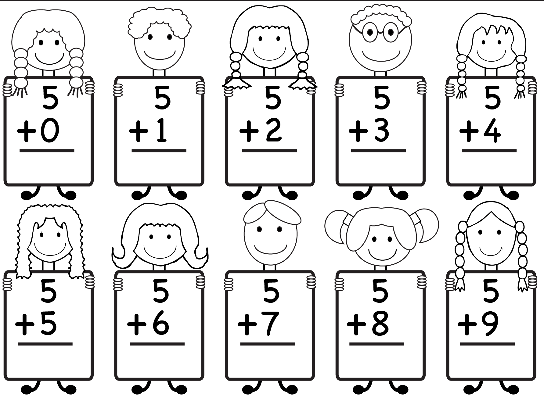 Addition Kindergarten Math Worksheet